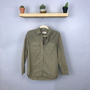 Madewell | Light Washed Army Green Button Down